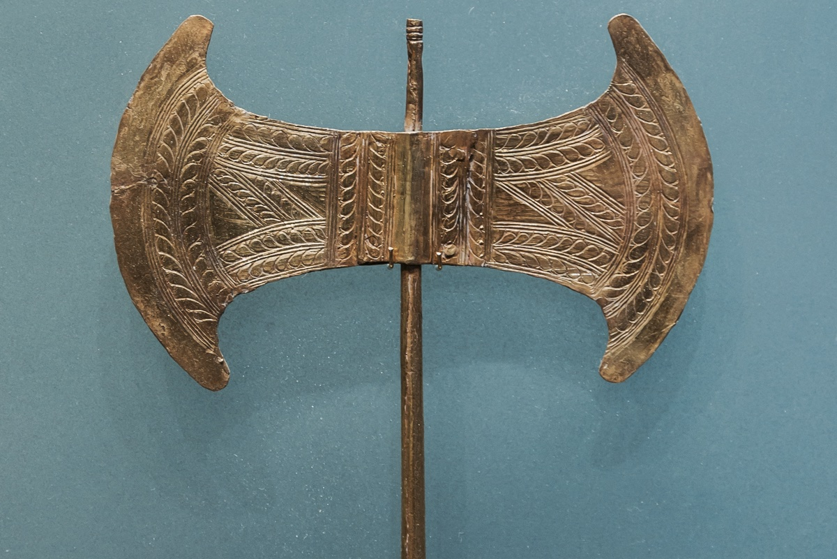 Double-headed axe of the Goddess of the Minoan civilization